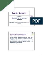Gestion RRHH - Modulo I (Planificacion Estrategica)