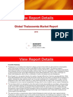 Global Thalassemia Market Report