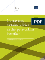 Contesting Sustainabilities - Peri-Urban Water Politics
