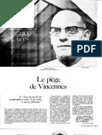 Foucault Piege de Vincenne