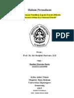Pengembangan Perusahaan (Makalah Pengganti UAS)