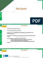 SP2013 012 Site Quota