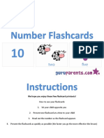 Number Flashcards 1 10