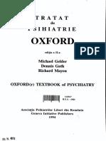 Tratat de Psihiatrie M Ghelder D Gath Oxford