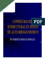 Configuración Estructural en Zonas de Alto Riesgo Sismico - Ing. Roberto Morales Morales