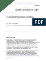 La industria farmacéutica y los obstáculos para el flujo oportuno de información