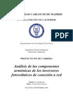 Sistema Fotovoltaico ( Analisis de Armonicos)