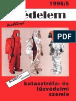 Védelem -Katasztrófa- És Tűzvédelmi Szemle, 1996 Év 5. Szám
