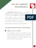 Principio Legalidad Administrativa