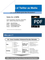 Review of Twitter as Media - Can Social Media Ignite Revolution?
