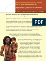 Tropical forest conservation and enhancement of the socio-economic wellbeing of selected Vadda communities in Sri Lanka