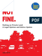 Private Parking Legal Opinion