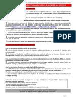 Assas - Annexes-Liste Des Pičces ŕ Fournir