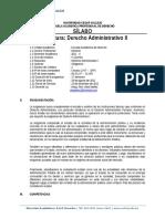 Silabo Derecho Administrativo II