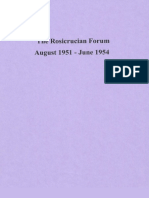 Rosicrucian Forum, August 1951-June 1954
