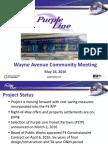 MTA Presentation Wayne Avenue Community Meeting in Silver Spring