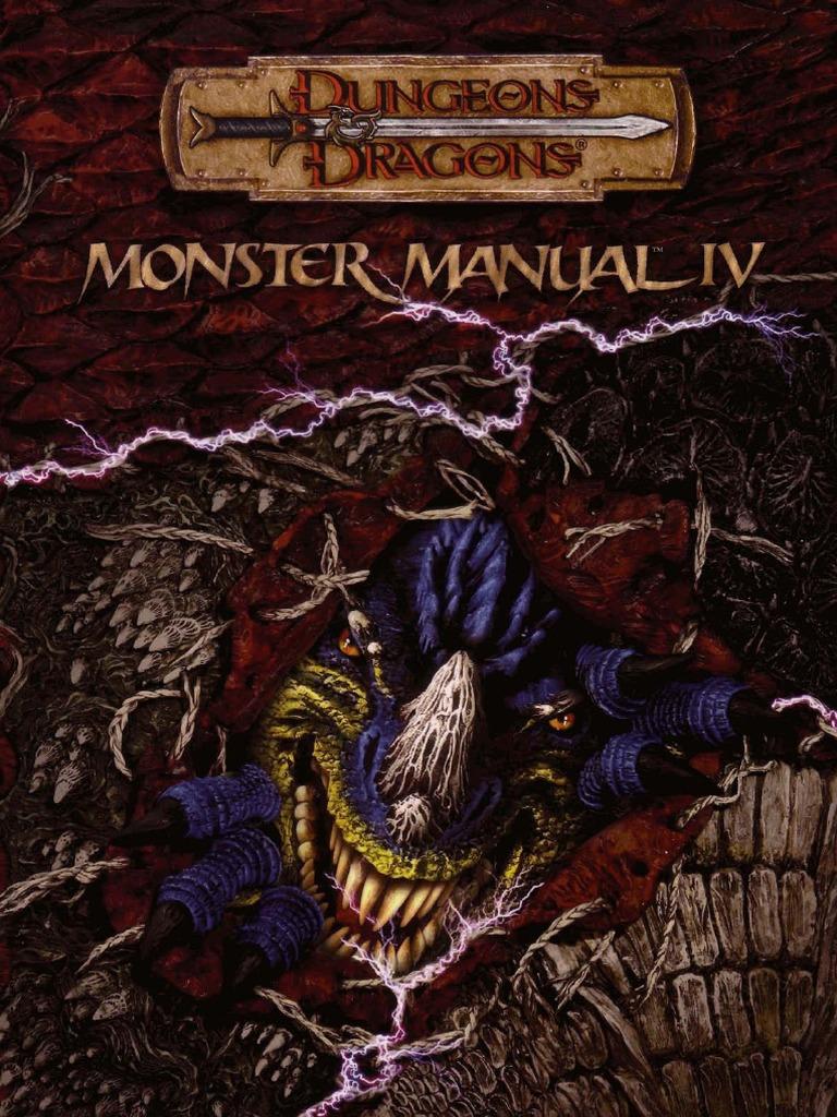 d d 3 5e eng monster manual iv pdf rh scribd com Monster Manual 3.5 PDF Monster Manual 2nd Edition