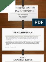 Anestesi Umum Pada Sinusitis