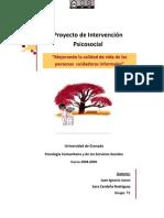 Proyecto de intervención psicosocial_mejorando la calidad de vida de las cuidadoras informales
