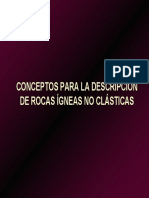Descripci n de Rocas Gneas No Cl Sticas
