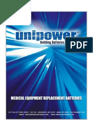 Unipower-Batteries-Biomedical-Catalog-1-11 pdf | Neonatal