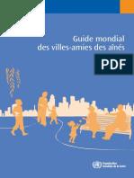 Le Guide mondial des villes amies des aînés