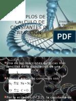 Ejemplos de Cálculo de Constantes de Reacción