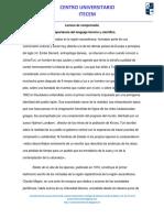 1.3 Importancia Del Lenguaje Técnico y Científico