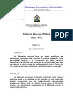 Codigo de Educacion Publica