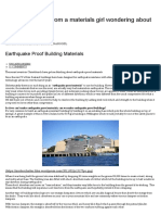 Earthquake Proof Building Materials