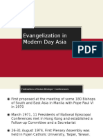 Evangelization in Modern Day Asia