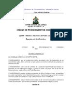 Codigo de Procedimientos Comunes.