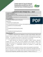 new product 79cb6 d0593 Modelo de Projeto de Pesquisa 2016