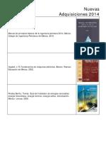 Nuevas Adquisiciones-Libros 2014