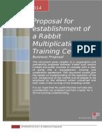 Proposal for establishment of a Rabbit Multiplication & Training Centre