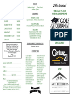 Golf Scholarship Brochure 2016
