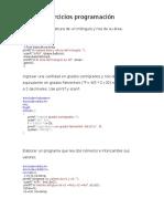 EJERCICIOS RESUELTOS EN C++