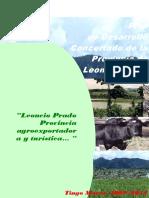 Plan de Desarrollo  Concertado de la  Provincia de  Leoncio Prado