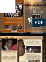 Funeral Program for Wilbert Felix Permel aka Wilbert Pidge Permel - January 22nd 2010