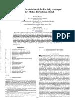 Near-Wall Formulation of the Partially Averaged Navier Stokes Turbulence Model