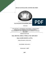 ANÁLISIS DE LA INVERSIÓN  DE EQUIPOS  Y MAQUINARIA PESADA DE UNA EMPRESA DE CONSTRUCCIÓN Y MANTENIMIENTO DE CARRETERAS EN LA REGIÓN CENTRAL DEL PERÚ