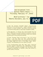 Brief Summary of Broadcast by Free Speech Radio News 020214 - By MANLIO GIORDANO 090612