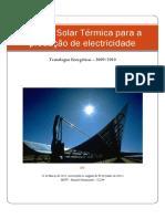 Energia Solar Térmica para a produção de electricidade