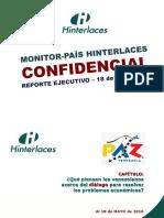 15 - MONITOR-PAIS 15 - Reporte Opinión Nacional Sobre El Diálogo (Al 18 Mayo 2016)