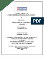 HDFC - Customer Relationship
