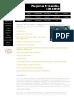 Preguntas Frecuentes ISO 14000