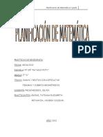 PLANIF MATEMATICA 2° GRADO