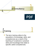 Training as Consultancy