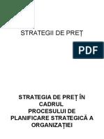 Strategii de Pret
