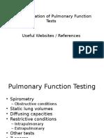 Summary Handouts PFTs Weblinks